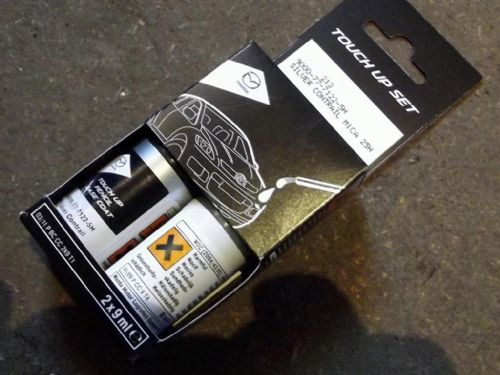 Paint touch up kit, genuine Mazda, 25H Silver Contrail Mica